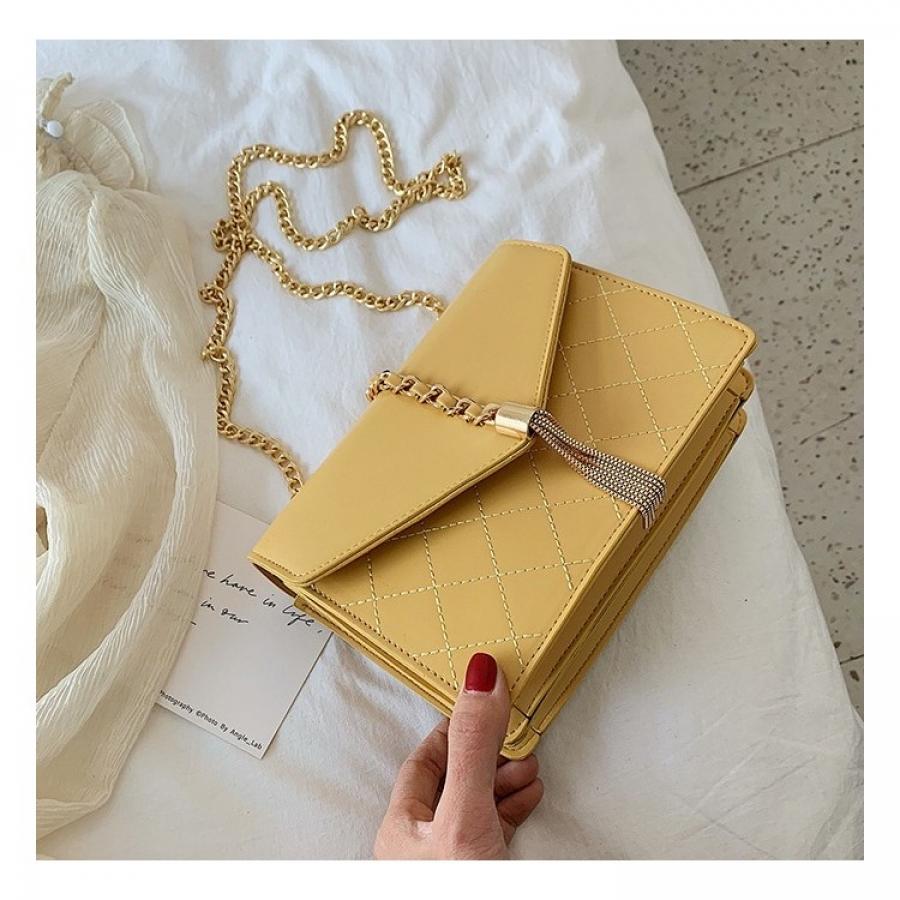 Elegantná kabelka žltá