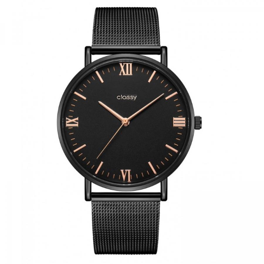 Dámské elegantné hodinky čierne