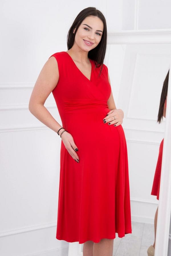 Materské šaty červené