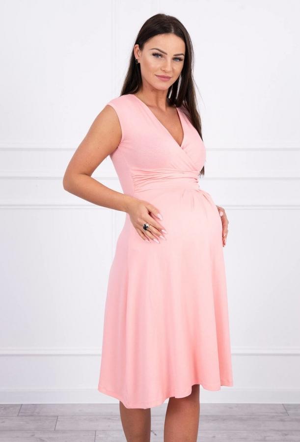 Materské šaty lososové