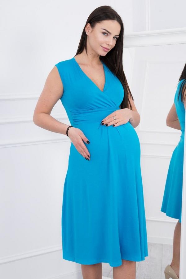 Materské šaty tyrkysové