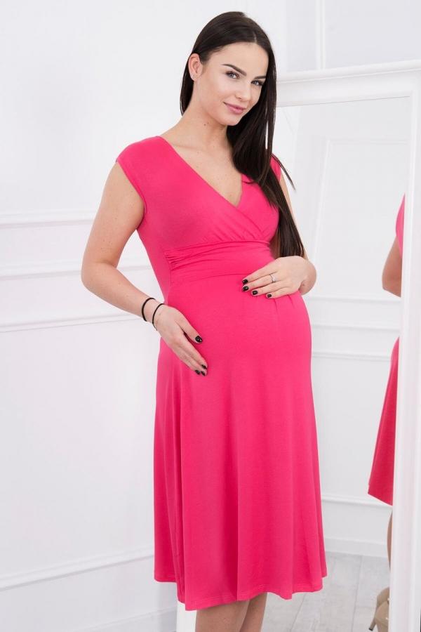 Materské šaty malinové