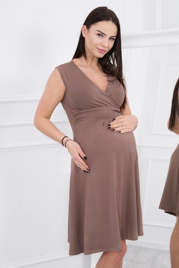 Materské šaty capučinové