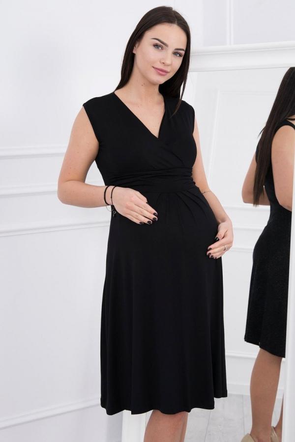 Materské šaty čierne