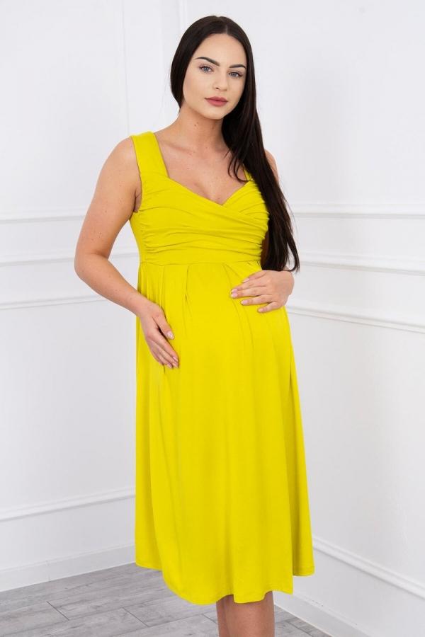 Šaty so širokými ramienkami žlté