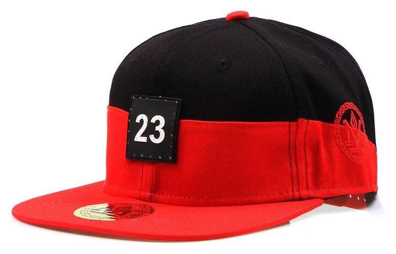 Pánska čiapka snapback čierno-červená