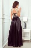 Dlhé šaty s vyšívaným výstrihom