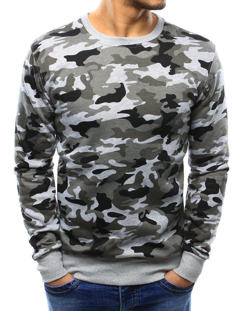 Pánske tričko camo šedé