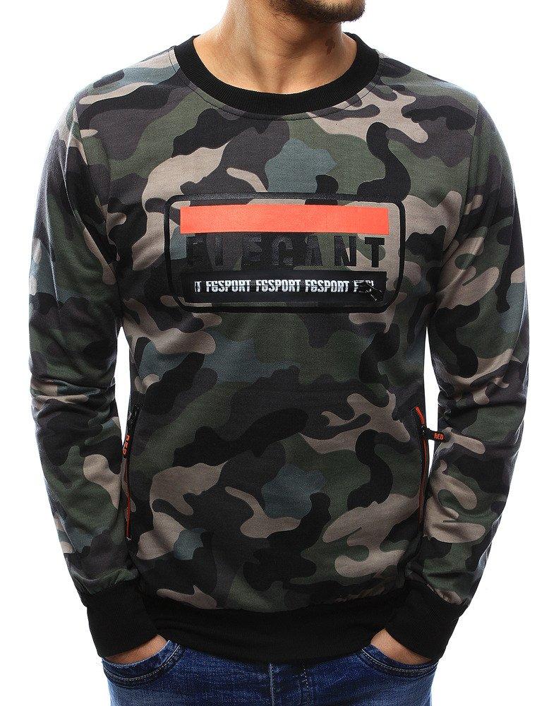 Panské tričko s podtlačou woodland camo