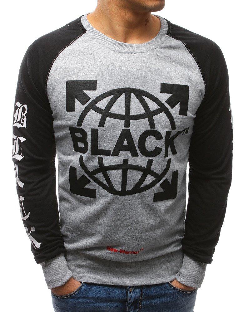 Pánske tričko s podtlačou šedé