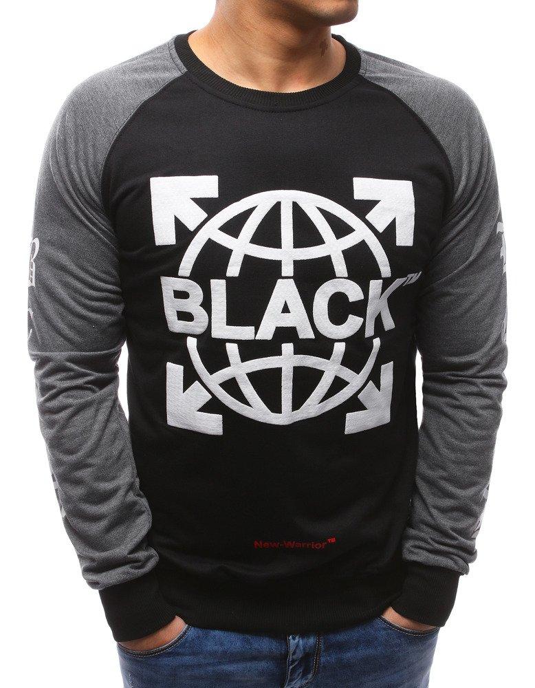 Pánske tričko s podtlačou čierne