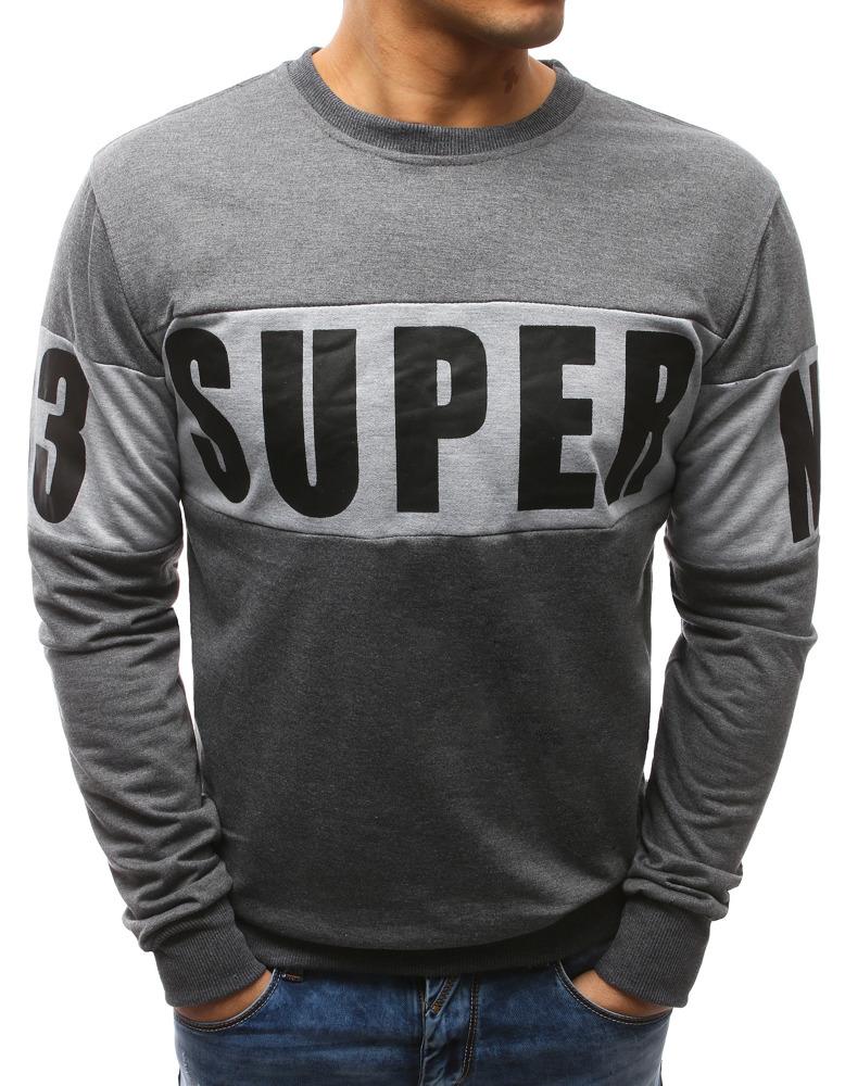 Pánske tričko s podtlačou antracitové