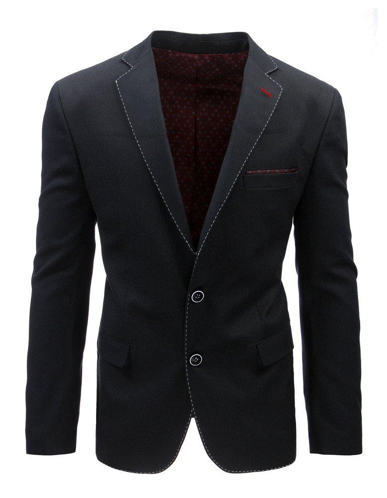 Elegantné pánske sako čierna