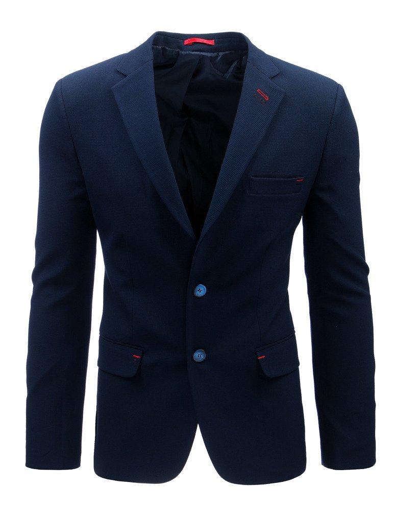 Elegantné pánske sako námornícka modrá