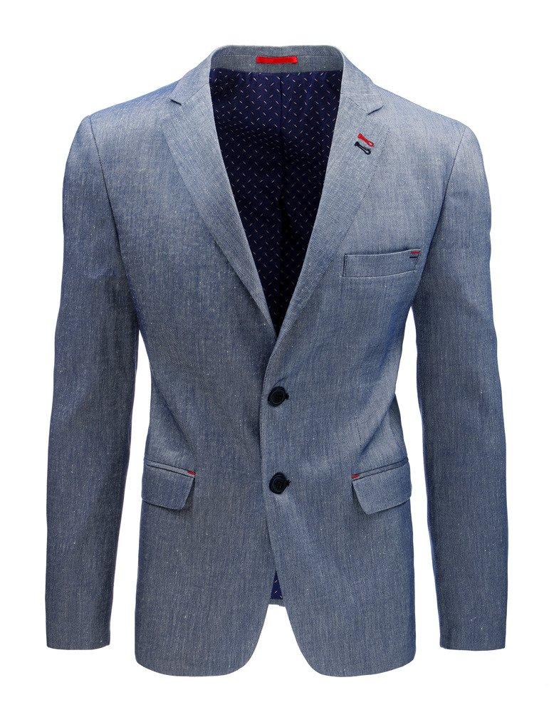 Elegantné pánske sako svetlo modrá