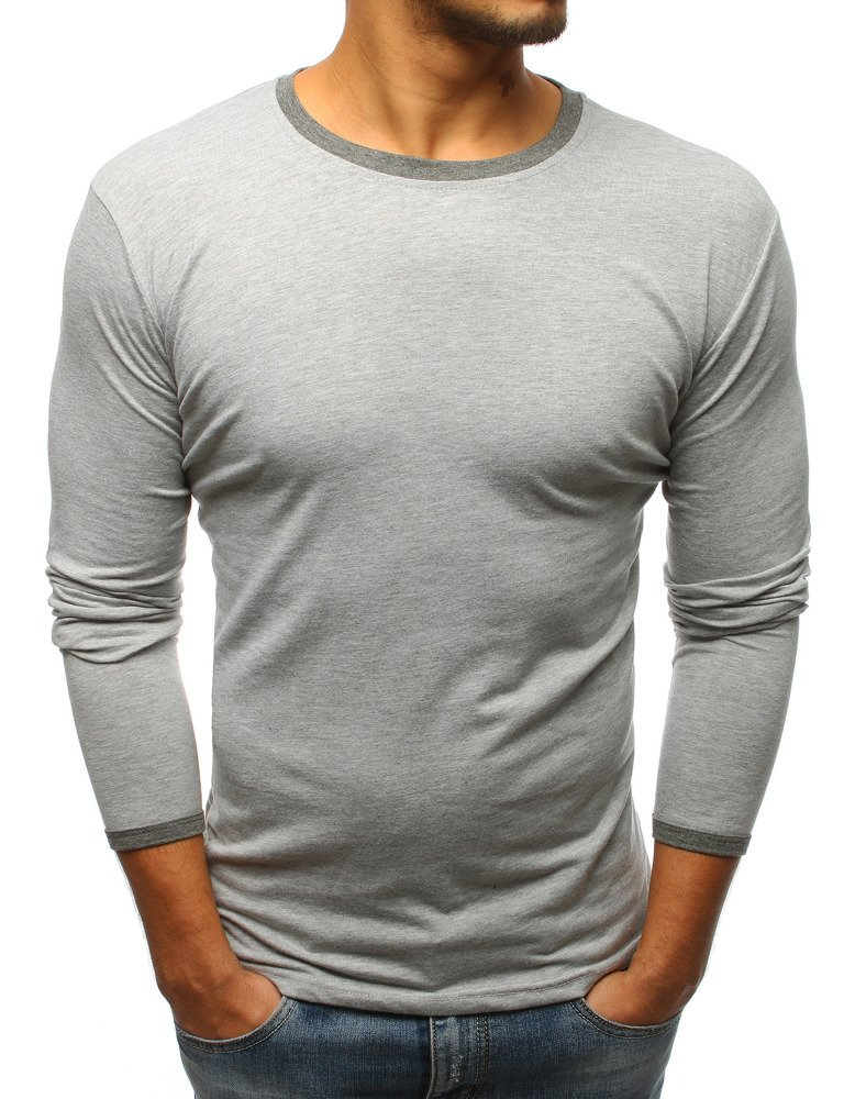 Tričko s dlhým rukávom šedé
