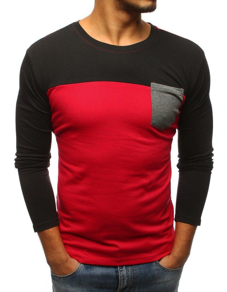 Tričko s dlhým rukávom červené