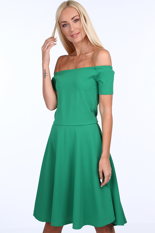 šaty tmavo zelené