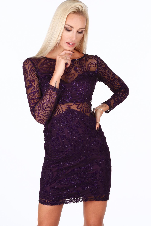 Elegantné šaty fialové