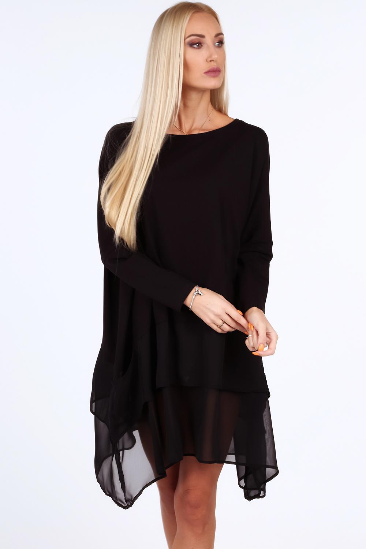 Elegantná tunika čierna pre moletky